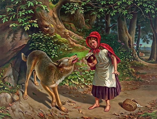 Le grand méchant loup et le petit chaperon rouge - Les