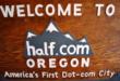 En 1999, la ville de Halfway a changé son nom en Half.com